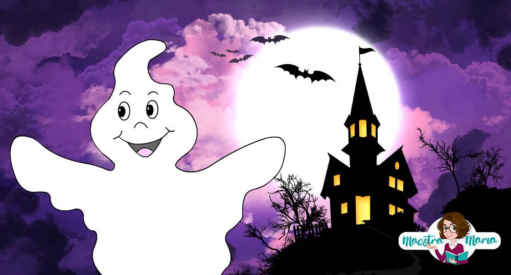 Halloween e il Fantasma Pallino: Storia, poesie e lavoretto