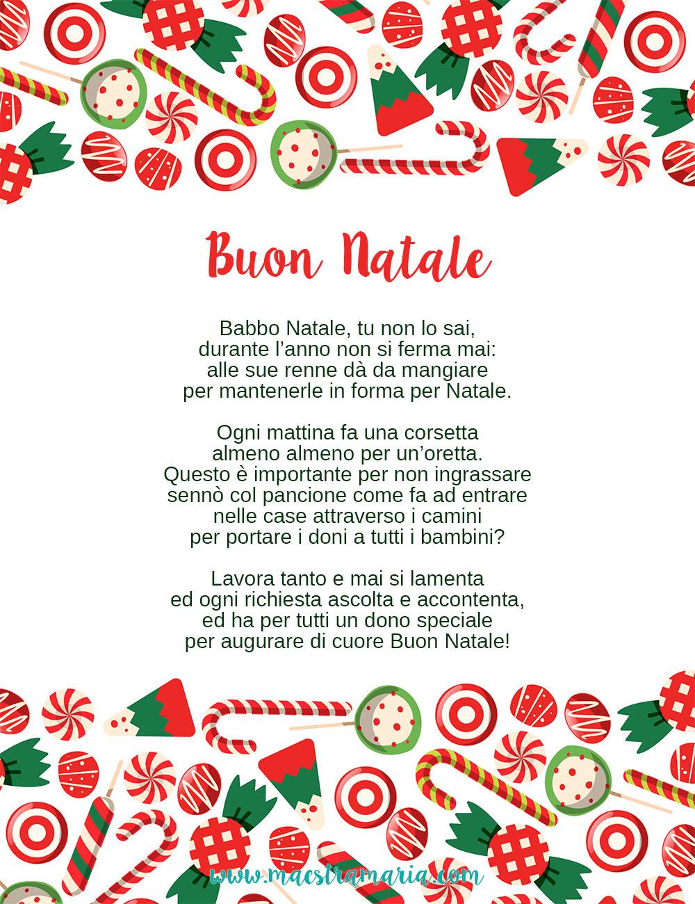 Poesie Di Natale Per Scuola Infanzia.Storia Poesia E Lavoretto Di Natale Maestra Maria